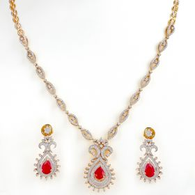 Extraordinary Vase Diamond Necklace