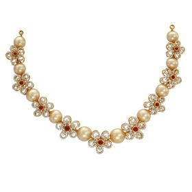 Pearl And Flower Diamond Necklace
