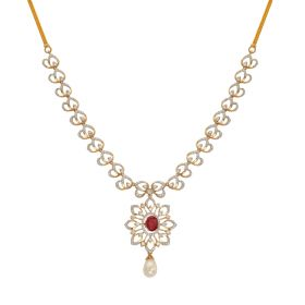 Luminous Floral Diamond Necklace