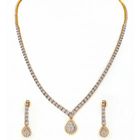 Tear-Drop Diamond Diamond Necklace