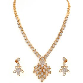 Leaf Cluster Diamond Necklace