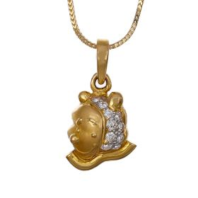 Winsome Bear Diamond Pendant