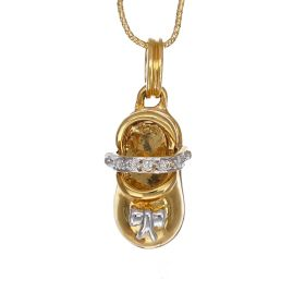 Buckle Shoe Charm Diamond Pendant