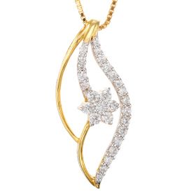 Artistic Diamond Bow Pendant