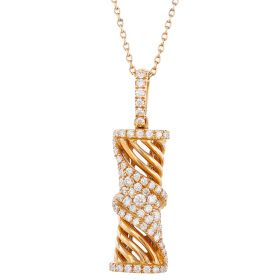 Trendy Tubular Diamond Pendant