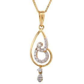 Twirls and Dangle Diamond Pendant