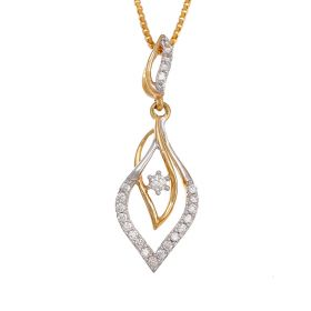 Intertwined Leafy Vines Diamond Pendant