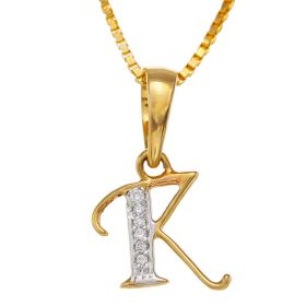 Radiant R Diamond Pendant