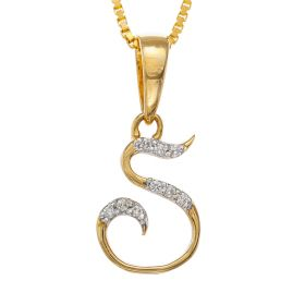 Sparkly S-shaped Diamond Pendant