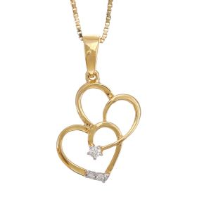 Entwined Hearts Diamond Pendant