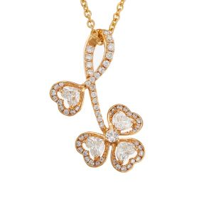 Heartwarming Flower Diamond Pendant