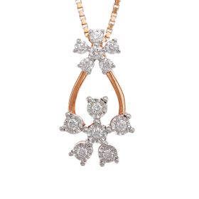 Transcendent Diamond Pansies Diamond Pendant