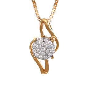 Striking Diamond And Gold Pendant