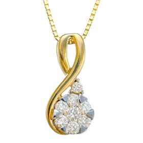 Ampersand Diamond Pendant