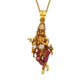 Lord Krishna Diamond Pendant 169VG509