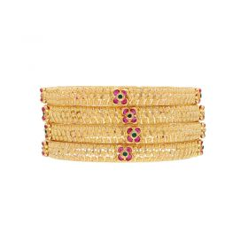 22K Self Designed Starry Bangles