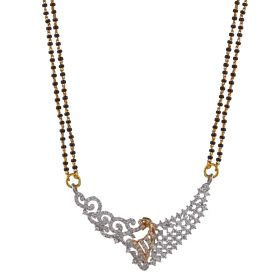 Blissful Curves Diamond Mangalsutra