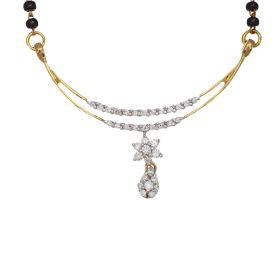 Double Trellis Diamond Mangalsutra