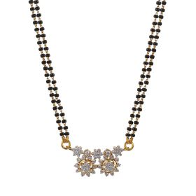 Twin Flowers Diamond Mangalsutra