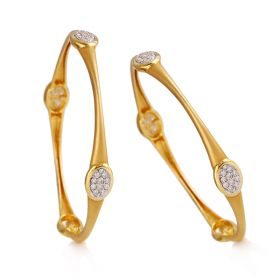 Modern Disc Diamond Bangles