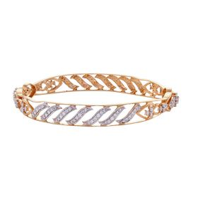 Floral Wavy Designer Diamond Bangle
