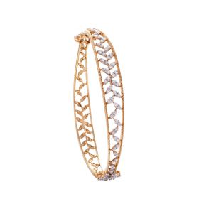 Diamond Floral Bangle
