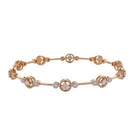Exotic Golden Loop Diamond Bangles