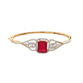 Magnificient Ruby And Diamond Bracelet