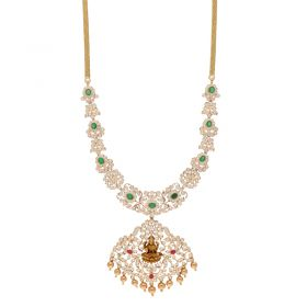 22KT Diamond Necklace with Pendant  189VG2154