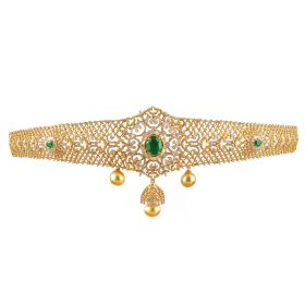 Emerald Hued Diamond Vaddanam