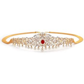 Floral Filigree Diamond Vaddanam