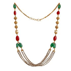 Trendy Multi-Gem Diamond Necklace