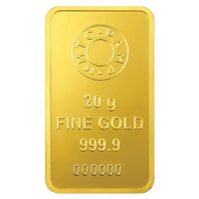 20 Gms 24 KT Gold Bar 999.9 Purity - Ignot