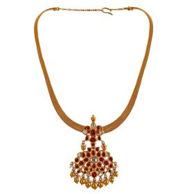 Traditional Ruby Gold Necklace