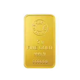 5 Gms 24 KT Gold Bar 999.9 Purity - Ignot
