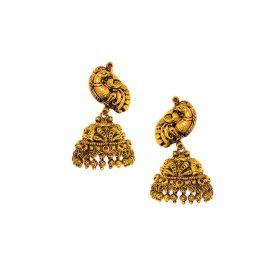 Antique Empress Gold Jhumkis