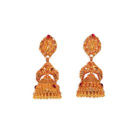 22K Antique Mira Gold Jhumkis