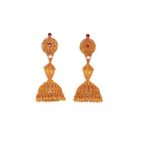 Antique Gold Armour Jhumkis