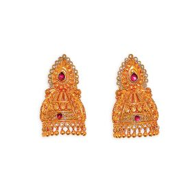 Antique Raj Mukut Gold Jhumkis