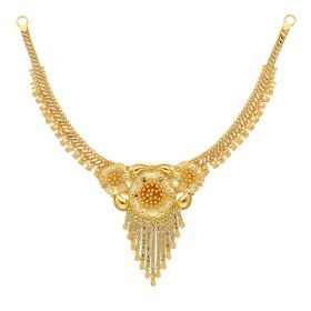 22KT Plain Gold Necklace 9VI5543