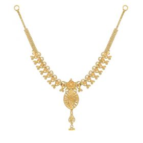 22KT Plain Gold Necklace 9VI5554