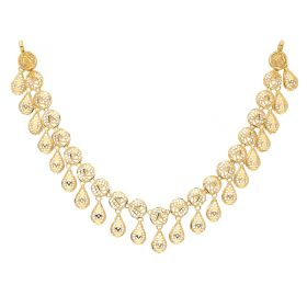 22KT Plain Gold Necklace 9VI5627