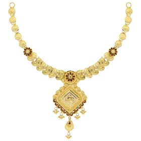 22KT Plain Gold Necklace 9VI5664