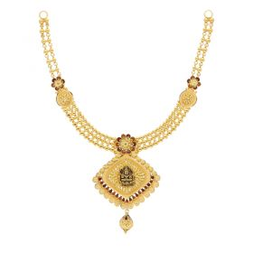 22KT Plain Gold Necklace 9VI5665