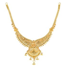 22KT Plain Gold Necklace 9VI5675