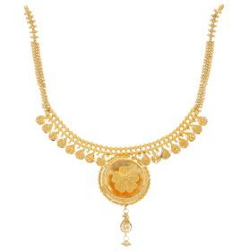 22KT Plain Gold Necklace 9VI5683