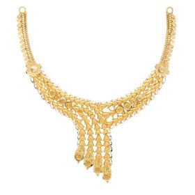 22KT Plain Gold Necklace 9VI5704