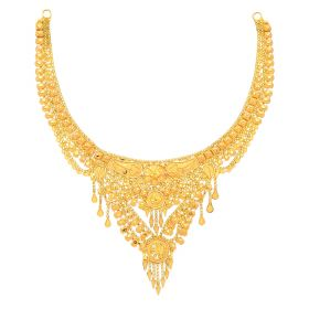 22KT Plain Gold Necklace 9VI5726