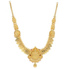 22KT Plain Gold Necklace 9VI5764
