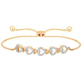 Hearty Trail Diamond Bracelet